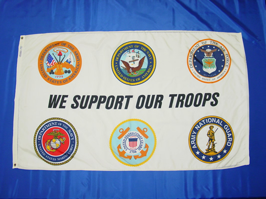 We Support Our Troops White
