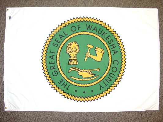 Waukesha County Seal - Screen Print Flag.jpg