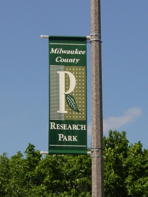 Milwaukee County Research Park Street Banner.JPG