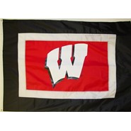 5x8ft Univeristy of Wisconsin Flag