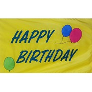 Happy B-Day with Balloons Flag