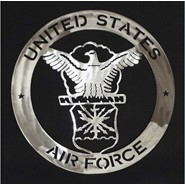 Air Force Steel Art