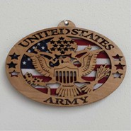 Army Wood Plaque 4x6in
