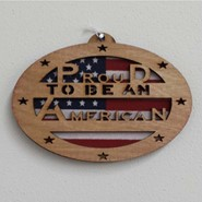 Proud American Wood Plaque 4x6in