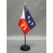 4x6in Mounted Acadiana Flag
