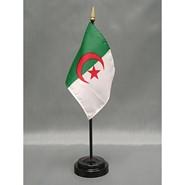 4x6in Mounted Algeria Flag