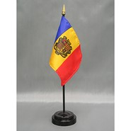 4x6in Mounted Andorra Flag