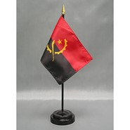 4x6in Mounted Angola Flag