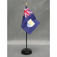 4x6in Mounted Anguilla Flag