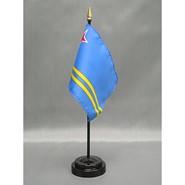 4x6in Mounted Aruba Flag