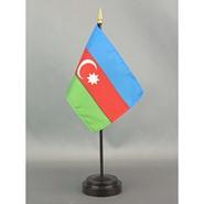 4x6in Mounted Azerbaijan Flag