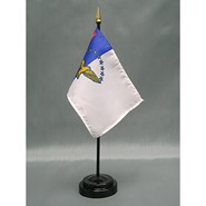 4x6in Mounted Azores Flag