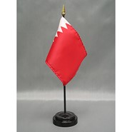 4x6in Mounted Bahrain Flag