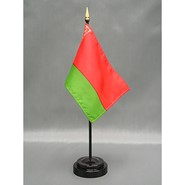 4x6in Mounted Belarus Flag