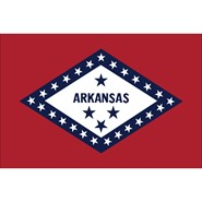 4x6in Mounted Arkansas Flag