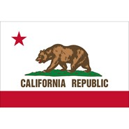 4x6in Mounted California Flag