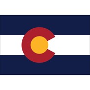 4x6in Mounted Colorado Flag