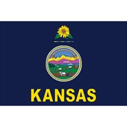 4x6in Mounted Kansas Flag