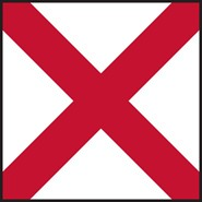 V Victor Code Flag