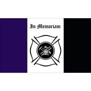 Fireman Mourning 3x5ft Flag