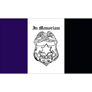 Police Mourning 3x5ft Flag