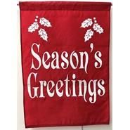 Seasons Greetings 28x40in Applique Banner
