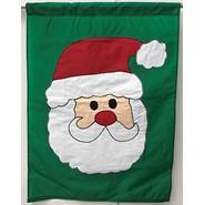 Santa Face 28x40in Applique Banner