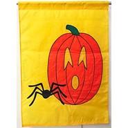 Pumpkin and Spider 28x40in Applique Banner