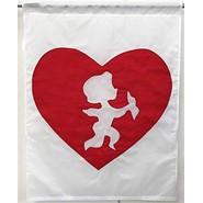 Valentine Hearts 28x40in Applique Banner