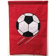 Soccer Ball (Red) 28x40in Applique Banner