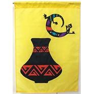 Gecko & Pot 28x40in Applique Banner