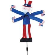 Uncle Sam Whirligig 20in