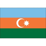 Azerbaijan Nylon Flag