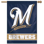 "Milwaukee Brewers ""M"" 28""x40"" Banner"