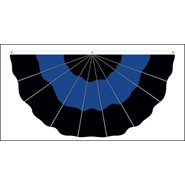 Thin Blue Line Nylon Fan