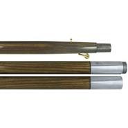 9 Foot Oak Finished Pole Chrome
