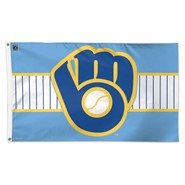 Milwaukee Brewers Cooperstown 3x5ft Flag