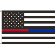 Thin Red-Blue Line U.S. 3x5ft Flag
