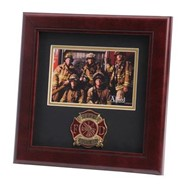 "Firefighter Medallion 4x6"" Photo 10x10"" Frame"