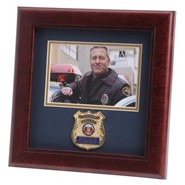 "Police Department Medallion 4x6"" Photo 10x10"" Frame"