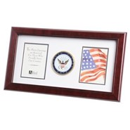 "Navy Medallion Double 4x6"" Photo 10x18"" Frame"