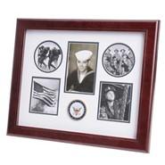 "Navy Medallion 5 Photo Collage 13x16"" Frame"