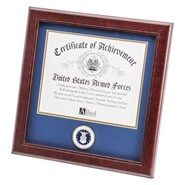 """Air Force Medallion 8x10"""" Certificate 14x14"""" Frame"""