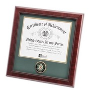 "Army Medallion 8x10"" Certificate 14x14"" Frame"