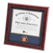 "Marine Medallion 8x10"" Certificate 14x14"" Frame"