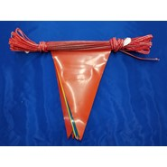 60' String Pennant Multi Color 8 Mil