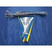 60' String Pennant Blue-Yellow