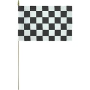 Checkered Flag Mounted 12x18in