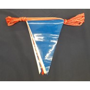 60' String Pennant Red White and Blue 8 Mil