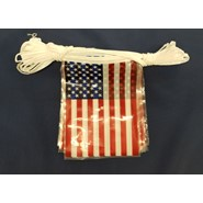 60' String Pennants U.S. Flags
